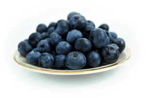 blueberries-plate